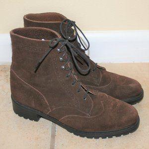 Eddie Bauer Vintage Suede Wing Tip Ankle Boots 9